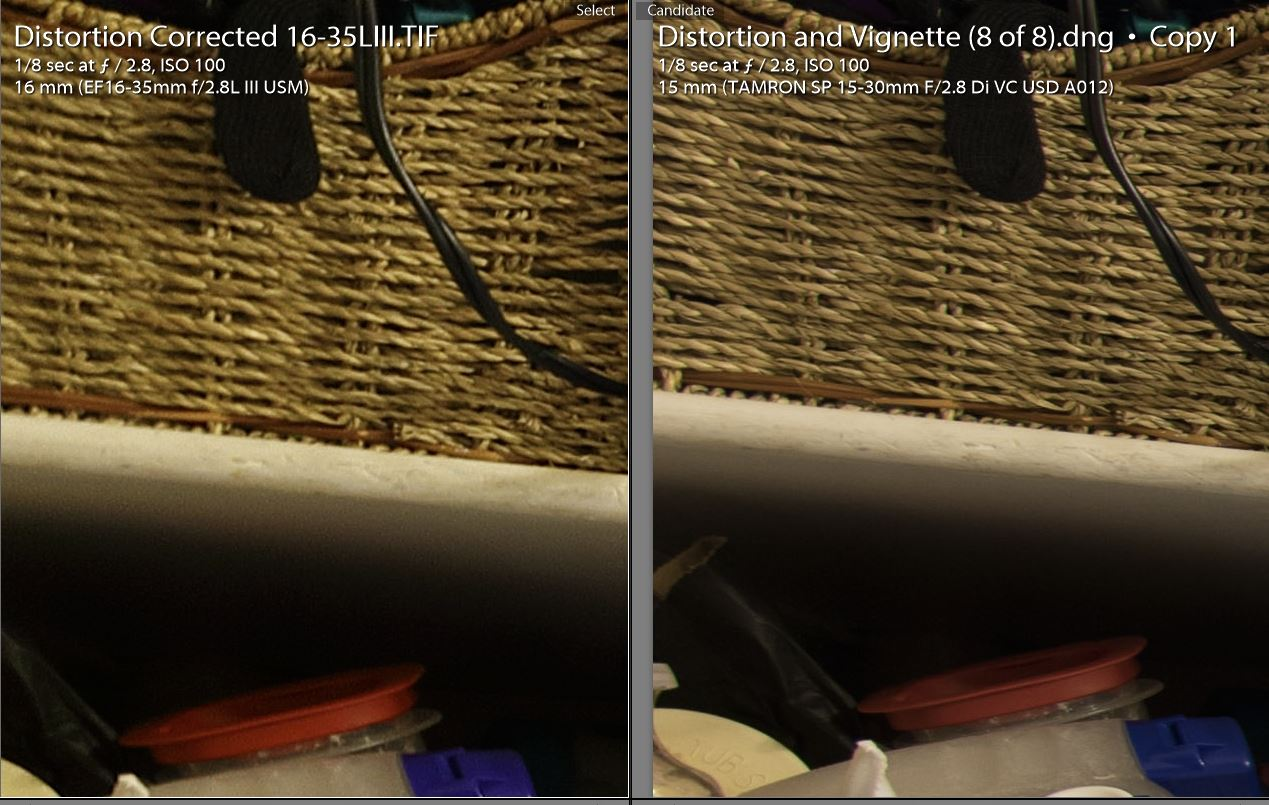 Tamron vs Canon Corners - Corrected