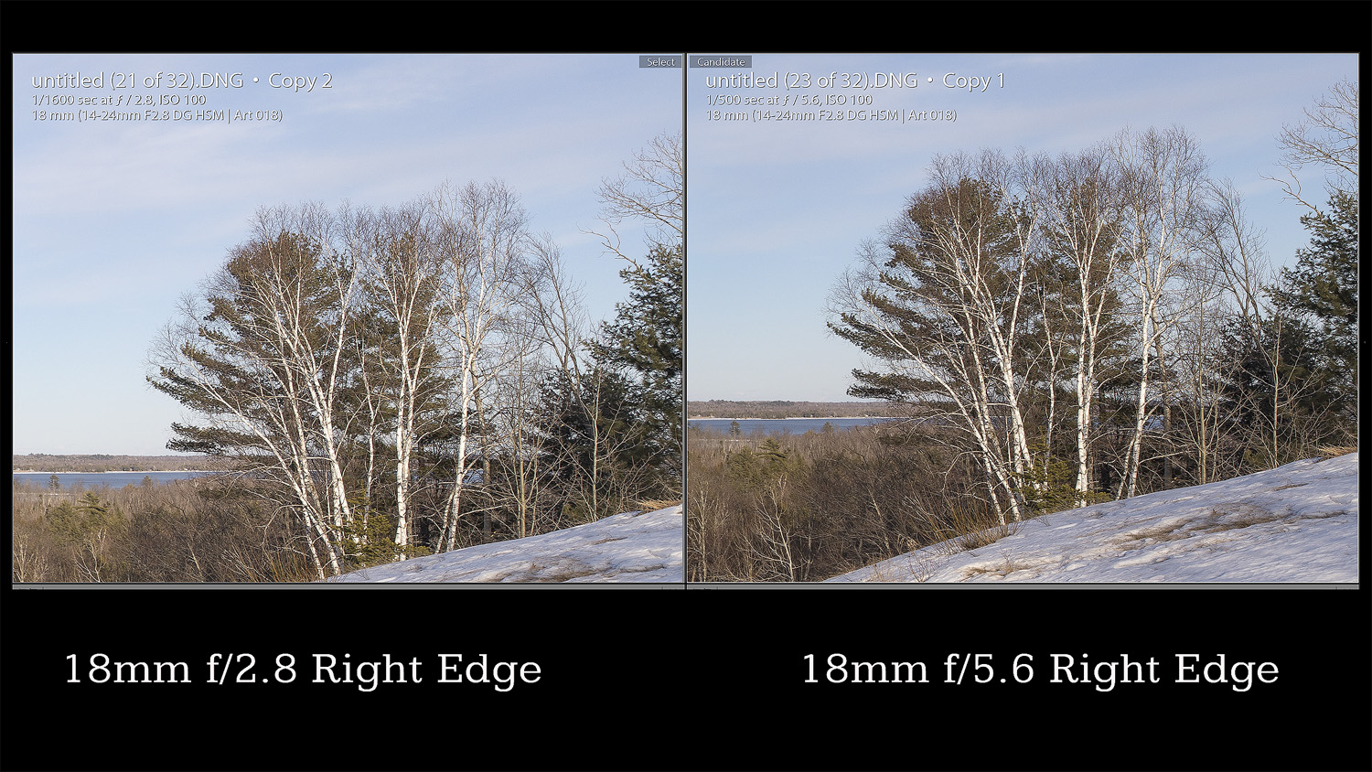 Infinity 18mm Edge Comparison