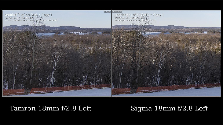 Tamron Comparison 18mm Edge