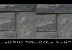 75mm Stopped Down Comparison