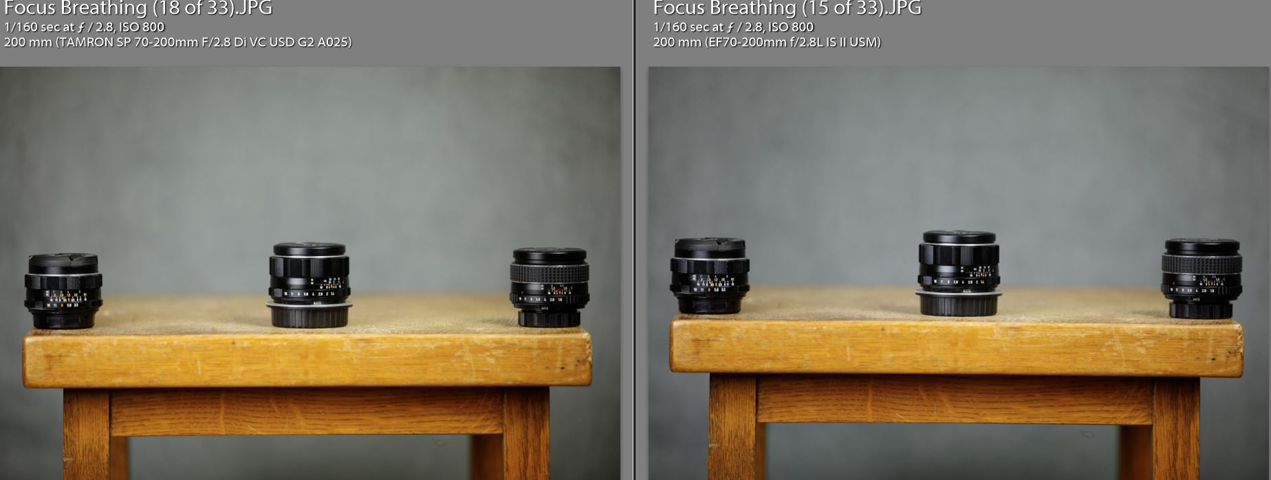Canon vs Tamron Color Rendition