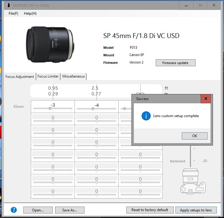 Lens Custom Setup Complete