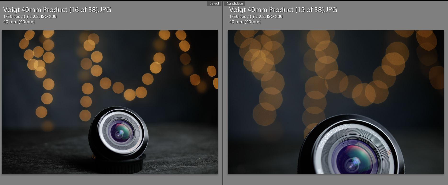 With and Without Close Up Lens