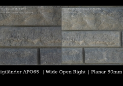 Planar Comparison Wide Open Right