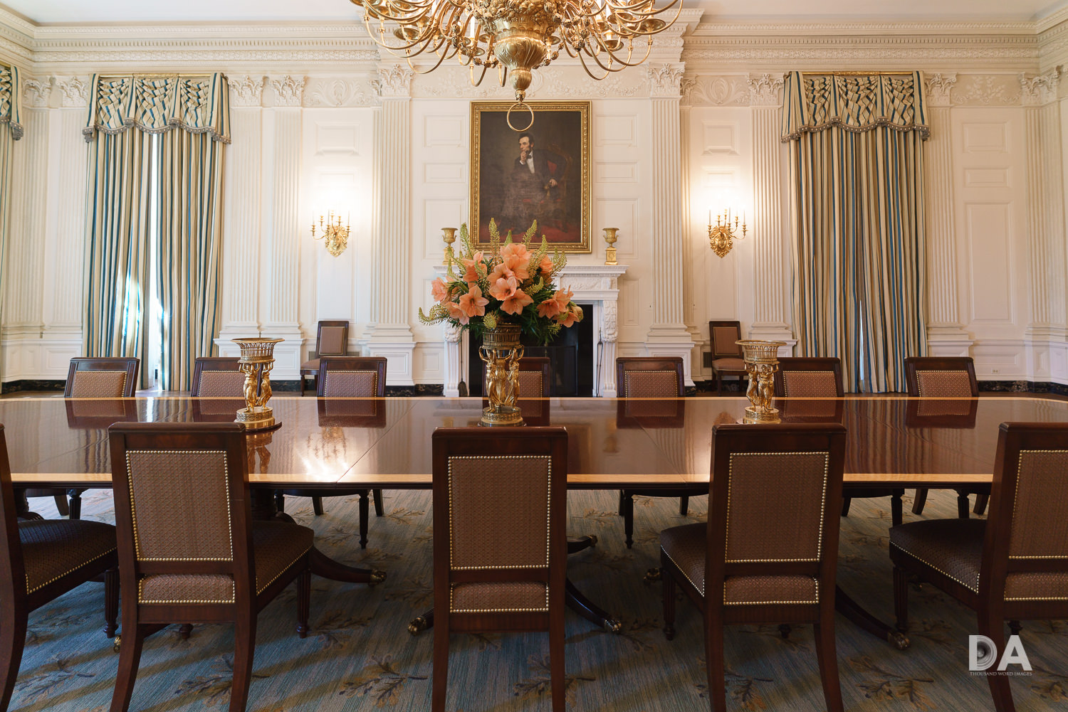 White House Table Detail
