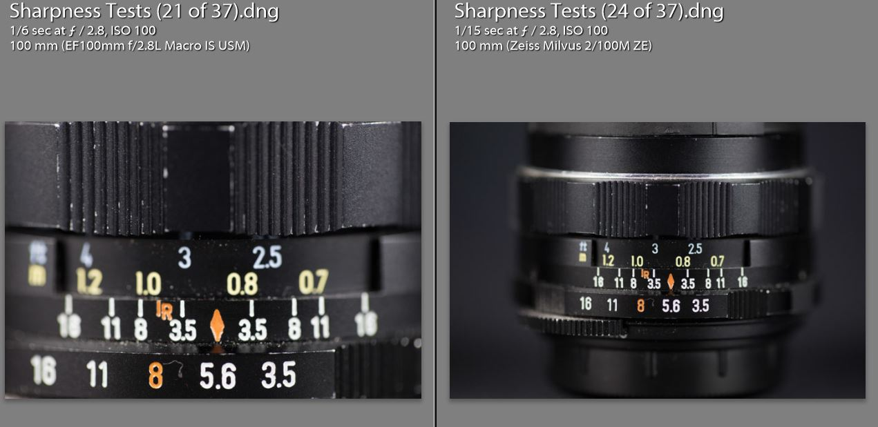 Magnification Comparison